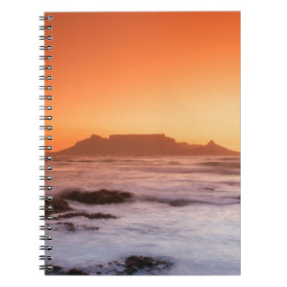 Table Mountain At Sunset, Bloubergstrand Notebook