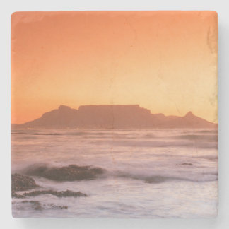 Table Mountain At Sunset, Bloubergstrand Stone Coaster