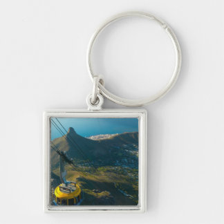 Table Mountain Cable Car, Cape Town Silver-Colored Square Key Ring
