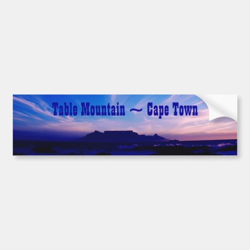 Table Mountain Cape Town RSA Car Bumper Sticker