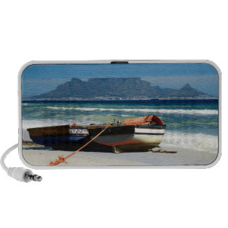 Table Mountain fishing boats Portable Speaker