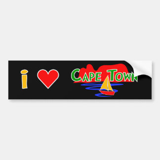 Table Mountain I Love Cape Town Bumper Stickers