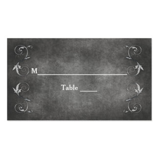 TABLE NAMES ASSIGNS - PEWTER/SWIRL WED. COLLECTION PACK OF STANDARD BUSINESS CARDS