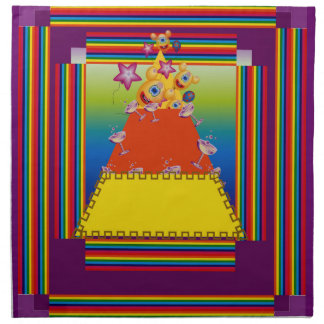 Table Napkins with Abstract Candy Corn Design