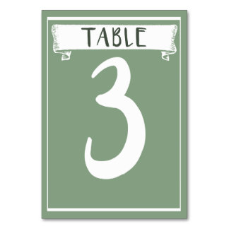 Table Number Card - 3