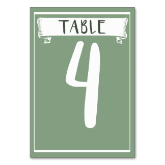 Table Number Card - 4