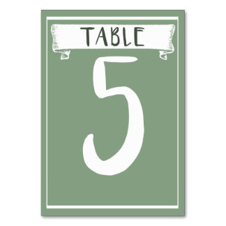 Table Number Card - 5