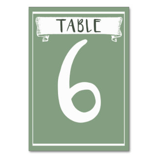 Table Number Card - 6