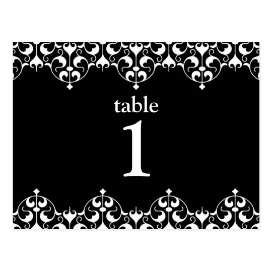 Table Number Card for KATE Collection
