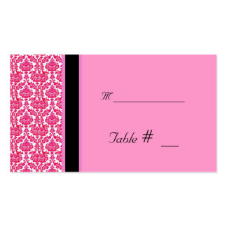 table number card with reception address pack of standard business cards