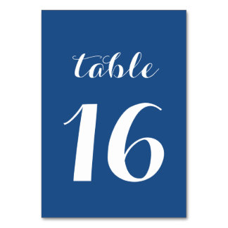 Table Number Cards Custom Colors to Match Wedding