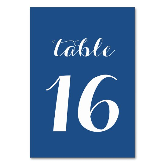 Table Number Cards Custom Colours to Match Wedding