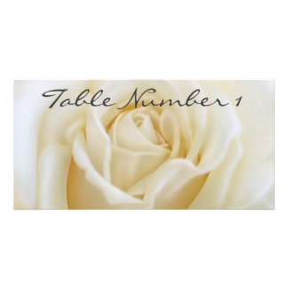 Table Number Cards Personalized Photo Card
