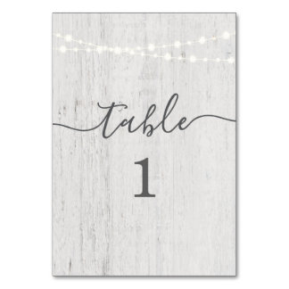 Table Number Cards | Rustic Romantic