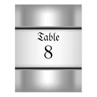 Table Number Cards Silver