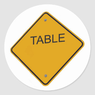 Table Number cCard Round Sticker