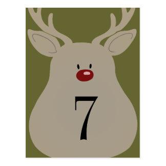 Table Number Goofy Reindeer Postcards