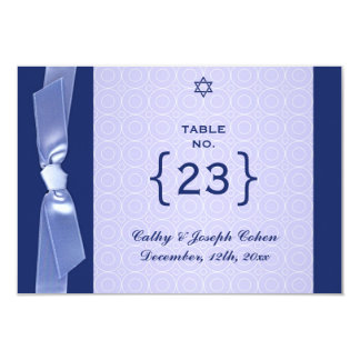 "Table Number Jewish Ribbon Wedding Flat Card 3.5"" X 5"" Invitation Card"