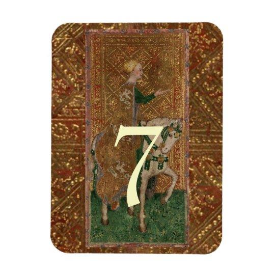 Table Number Lady Mediaeval Renaissance wedding Rectangular Photo Magnet