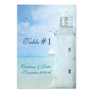 Table Number-Lighthouse Wedding 9 Cm X 13 Cm Invitation Card