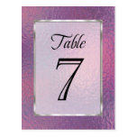 Table Number Pink and Purple Faux Foil
