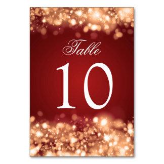 Table Number Sparkling Lights Gold