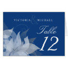 Table Number Wedding Abstract Floral Fold-over