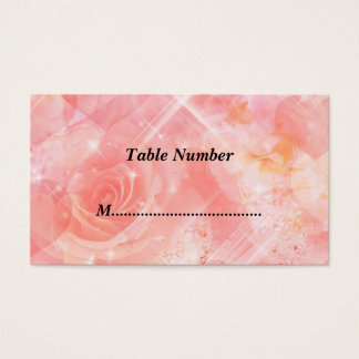 Table Numbers Pink Flowers