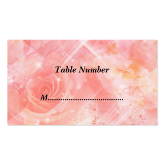 Table Numbers Pink Flowers Double-Sided Standard Business Cards (Pack Of 100)