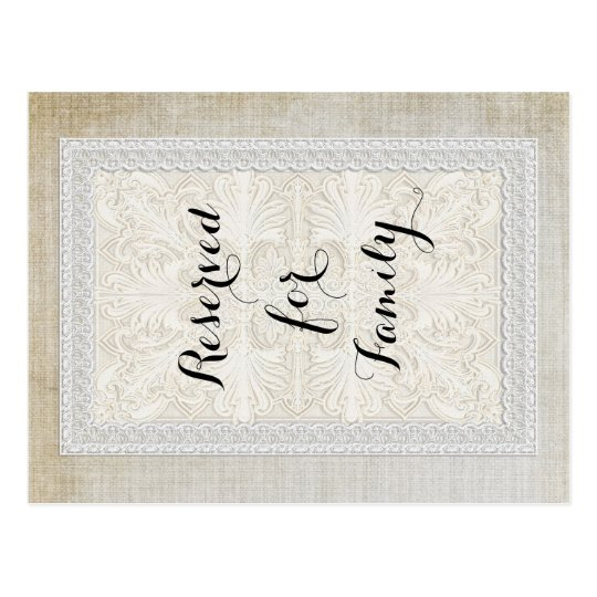 Table Numbers Rustic Lace w Aged Vintage Linen