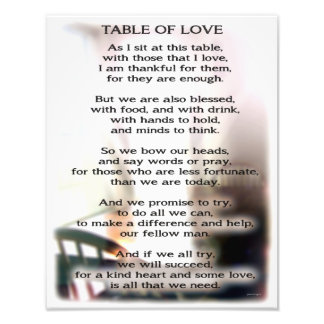 Table of Love Photo Print