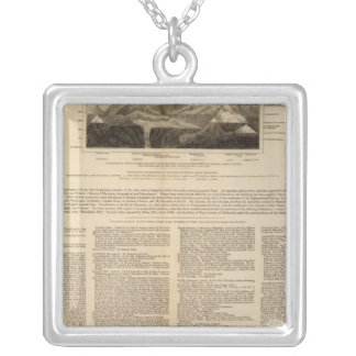 Table of mountain chains square pendant necklace