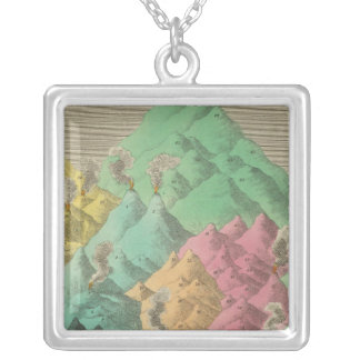Table of the Comparative Heights Silver Plated Necklace