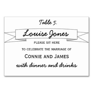 Table Place Name for Wedding Table Card