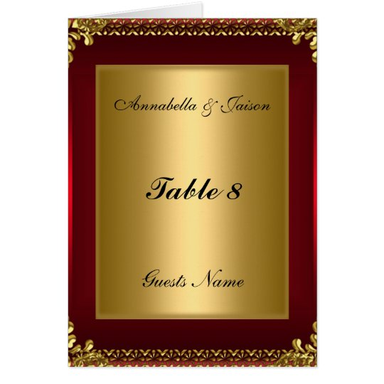 Table Placement Card and Menu