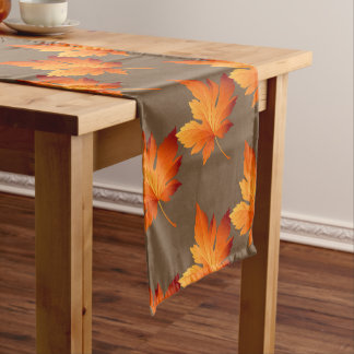 Table Runner-Autumn Leaves Short Table Runner