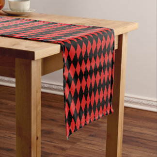 Table Runner-Harlequin Diamond Print Short Table Runner