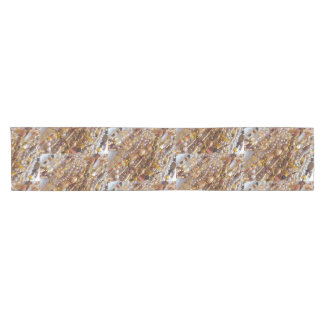 Table Runner- Natural Earth Tones Bead Print Short Table Runner