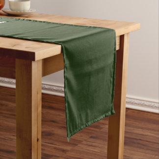 Table Runner uni Green Medium