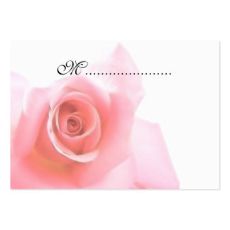 Table Seating Card Pink Rose Wedding Set Business Cards