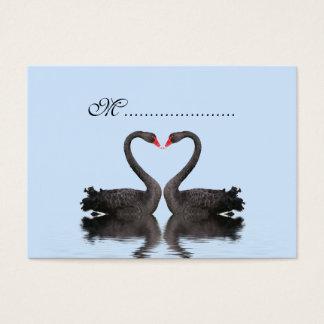 Table Seating Card Romancing Swans Wedding Set