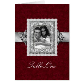 Table Seating Card Xmas Wedding Jewels Red
