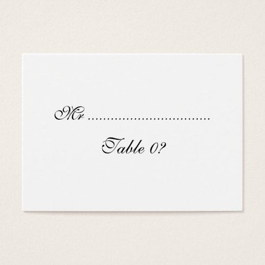 Table seating wedding arrangement CUSTOM Business Card