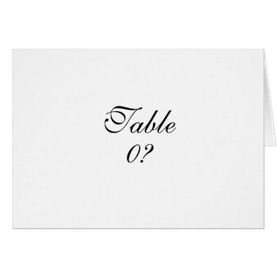Table seating wedding guest placement CUSTOM Card