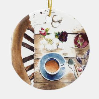 Table setting round ceramic decoration