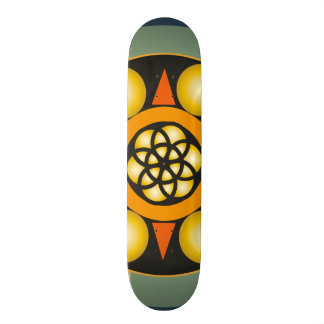 Table skate with geometric drawings skateboard