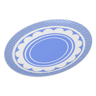 Table-Statements (c)_Happy_Blue_Checks_Everyday Dinner Plate