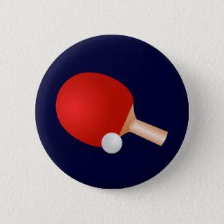 Table Tennis 6 Cm Round Badge
