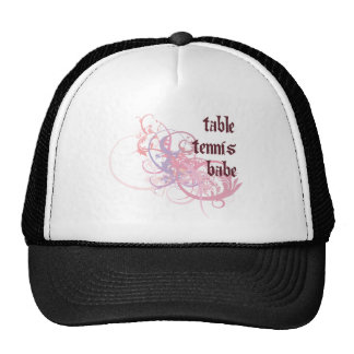 Table Tennis Babe Hats