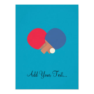 table tennis bat and ball 17 cm x 22 cm invitation card